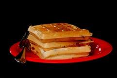 Waffles Blueberry Stock Images