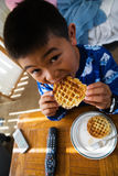 Waffles for breakfast Stock Photography