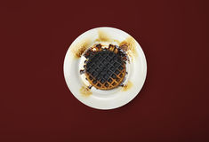 Waffles burned Royalty Free Stock Photo