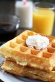 Waffles with butter Stock Images
