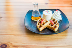 Waffles cake Stock Images