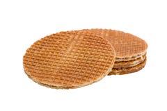 Waffles with caramel Stock Photos