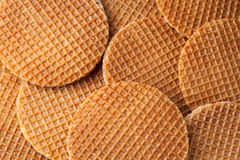 Waffles with caramel background Stock Photos