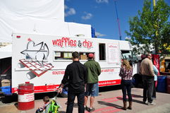 Waffles & Chix food truck Stock Photo