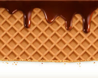 Waffles and chocolate Royalty Free Stock Photography