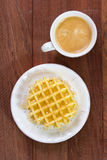 Waffles with coffee Stock Photography
