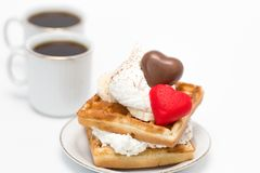 Waffles and coffee Stock Photography