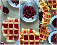 Waffles Collage Stock Images