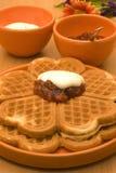Waffles com atolamento Imagens de Stock Royalty Free