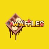 Waffles com banana Fotos de Stock Royalty Free