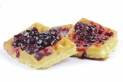 Waffles com doce de fruta Fotos de Stock Royalty Free