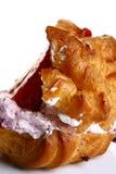 Waffles com morango e atolamento frescos imagens de stock royalty free