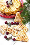 Waffles composition with berries Stock Image