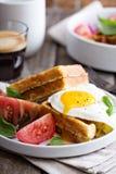 Waffles da farinha dos grãos-de-bico com ovo Fotos de Stock