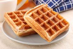 Waffles de Bélgica imagens de stock royalty free