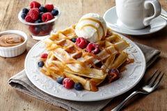 Waffles de Bélgica Imagem de Stock Royalty Free