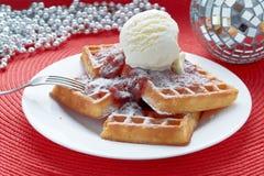 Waffles de Bélgica Fotografia de Stock Royalty Free