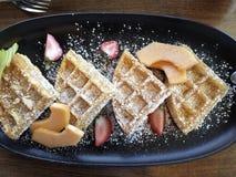 Waffles de Bélgica Foto de Stock