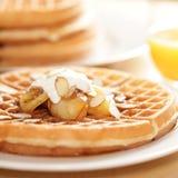 Waffles de Homestyle Imagem de Stock Royalty Free