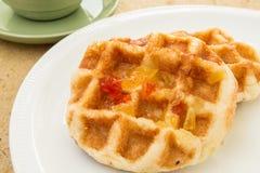 Waffles on dish Stock Photography