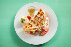 Waffles in a dish Stock Photography