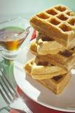 Waffles do café da manhã Imagens de Stock Royalty Free