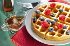 Waffles do café da manhã Imagem de Stock