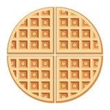 Waffles do café da manhã do vetor Fotografia de Stock