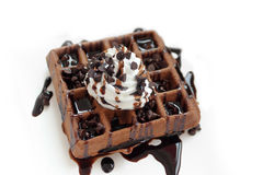 Waffles do chocolate Fotos de Stock Royalty Free