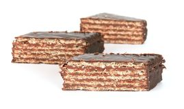 Waffles do chocolate imagens de stock