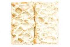 Waffles do Close-up com foto de creme Fotos de Stock