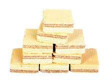 Waffles doces amarelos Fotografia de Stock
