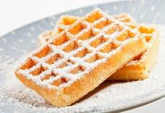 Waffles em um prato Imagens de Stock