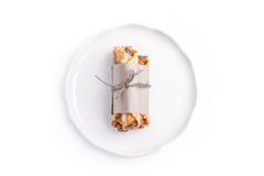 Waffles filled with with caramel cream Royalty Free Stock Image