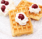 Waffles frescos Foto de Stock