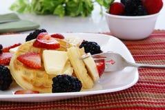 Waffles and Fruit Royalty Free Stock Image