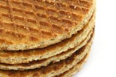 Waffles holandeses chamados um stroopwafel Imagem de Stock