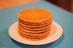 Waffles holandeses do xarope Imagem de Stock