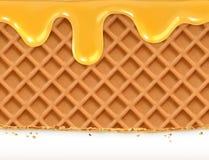 Waffles and honey Stock Image