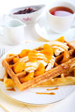 Waffles with ice cream Stock Photo