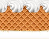 Waffles and ice cream Royalty Free Stock Photo