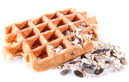 Waffles from integral wholegrain Royalty Free Stock Photo