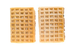 Waffles isolated Stock Photos