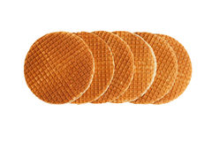 Waffles isolated on white Royalty Free Stock Photos