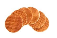 Waffles isolated on white Royalty Free Stock Images
