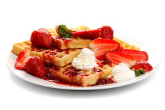 Waffles, isolated on white Stock Image