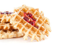 Waffles with jam Royalty Free Stock Image