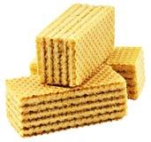 waffles le blanc Photographie stock