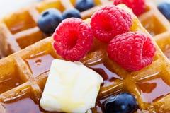 Waffles le plan rapproché Photo libre de droits