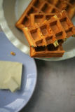 Waffles Liège и белый шоколад Стоковая Фотография RF